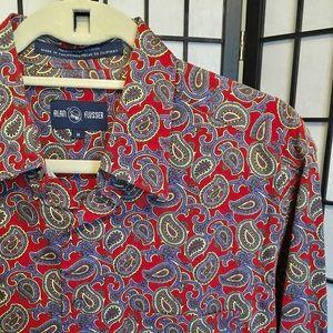 Alan Flusser Dress Shirt Sz Medium
